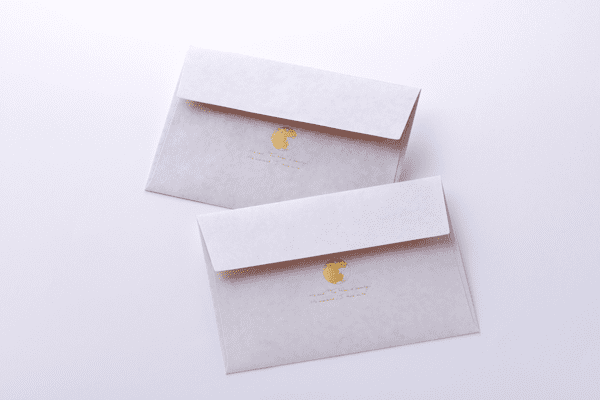 封筒箔押し印刷