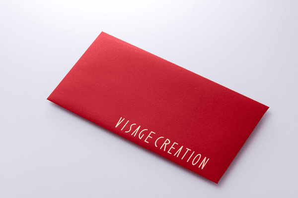 封筒箔押し印刷 千葉県 VISAGE CREATION様