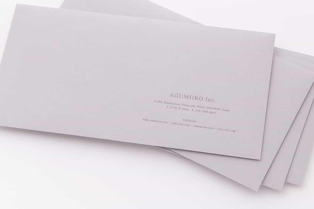 お洒落でかっこいい!センスある企業封筒が作れる箔押し封筒【画像あり】