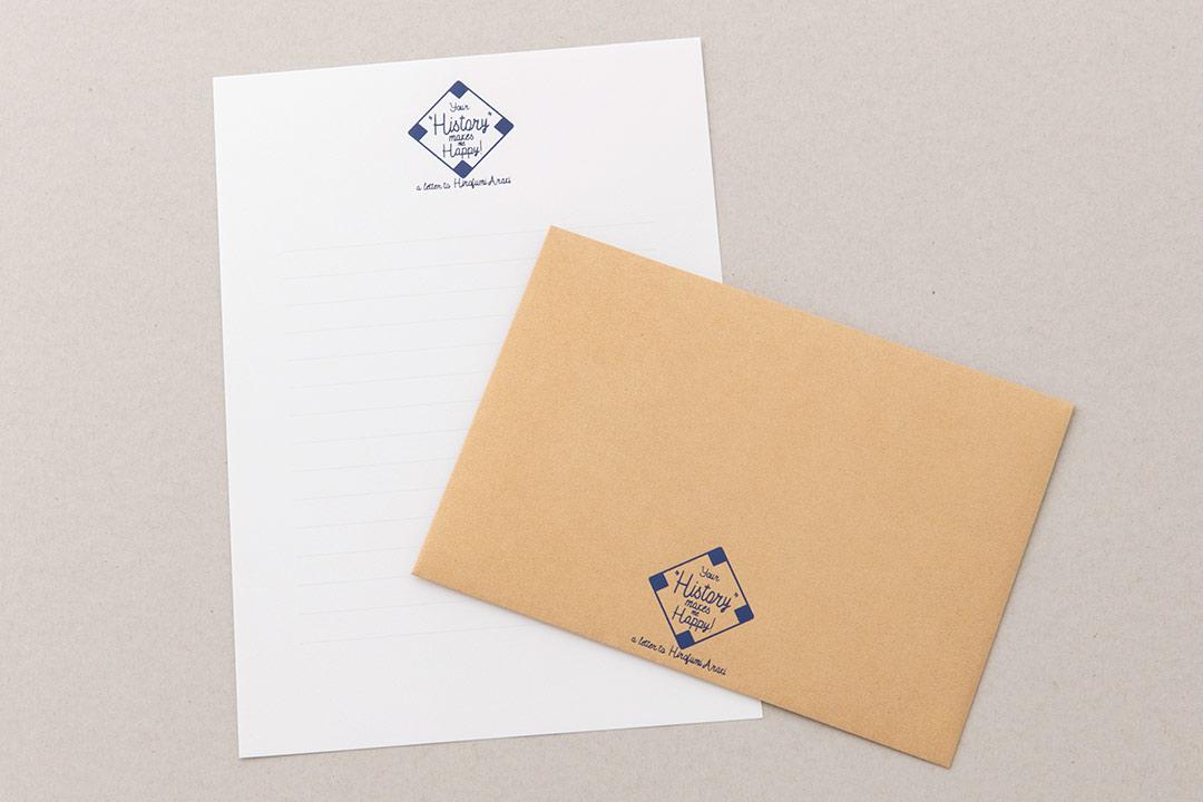 封筒の色:クラシッククラフトゴールド<br>箔:シルキーネイビー箔