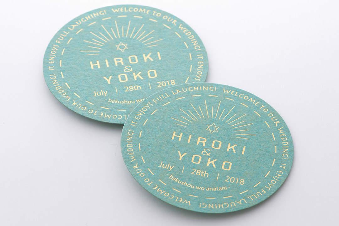 ウェディングカード箔押し印刷 デザイナー コバヤシ ナルミ様