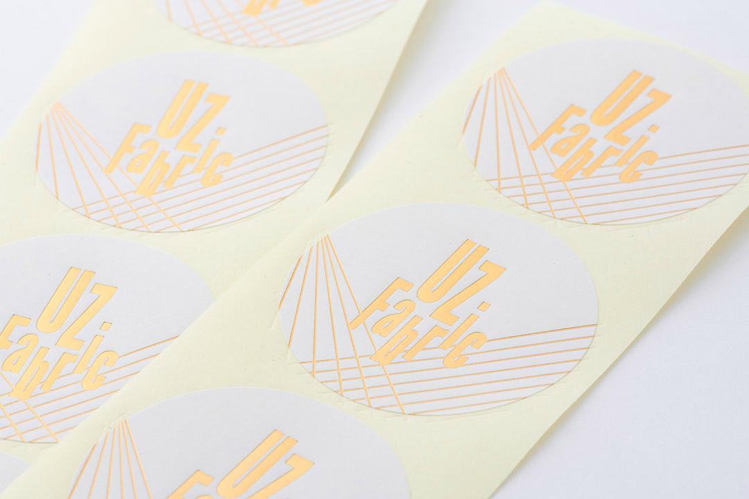 シール箔押し印刷 UZ Fabric 様
