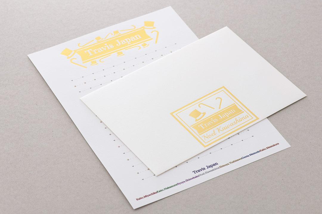 封筒の色:パールスノーホワイト<br>箔:メタリック金箔・つや消し金箔111