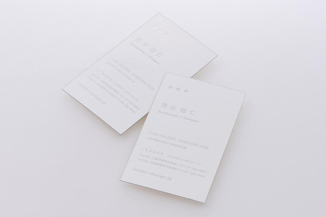 紙:小口染め(シルバー)<br>箔:つや消し銀箔