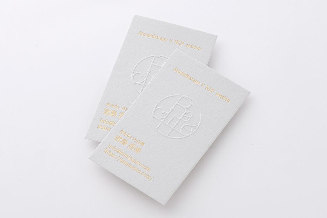 紙:グムンドコットン<br>箔:つや消し金箔111